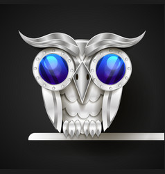 hand drawn mechanical owl vector image