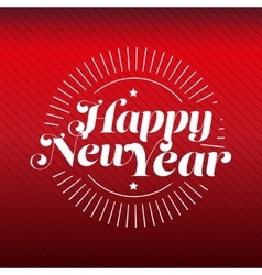 Happy New Year lettering gold vector image