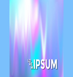 hologram texture gradient party poster background vector image