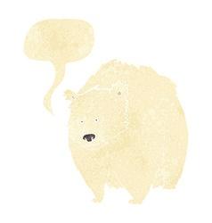 Huge polar bear cartoon with speech bubble vector