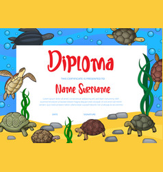 Kids education diploma and certificate template vector