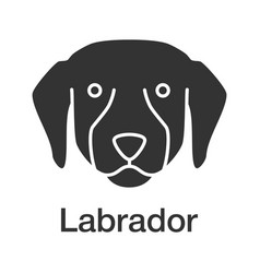 labrador retriever glyph icon vector image