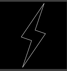 lightning the white path icon vector image