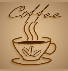 Logo coffee vector image