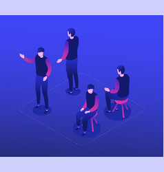 man in casual clothes - modern isometric character vector image