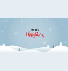 merry christmas background with xmas trees vector image