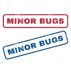 Minor Bugs Rubber Stamps vector
