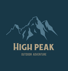 Mountain and outdoor adventures image vector