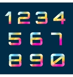 Numbers 1-9 letters vector