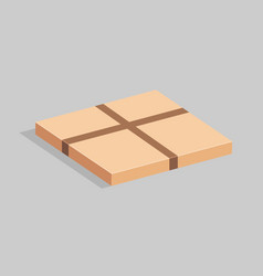Packing cardboard box with packing stickers vector