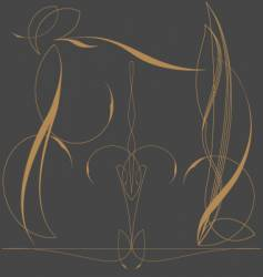 Pinstriping vector