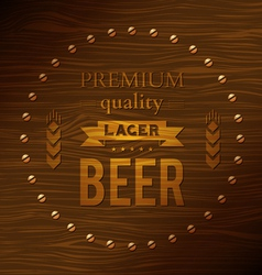 Premium quality lager beer vector image