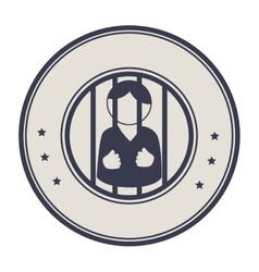Prisoner character isolated icon vector
