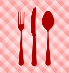 Red Kitchen Cutlery vector image vector image