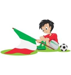 Sad italy soccer fan vector