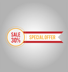 sale 30 special offer modern ribbon design vector image