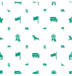 Seal icons pattern seamless white background vector