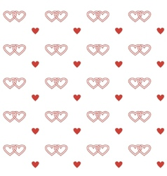 Seamless pattern with double hearts vector