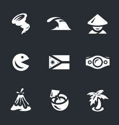 set of philippines icons vector image