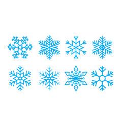 snowflake for christmas snow flake for winter vector image