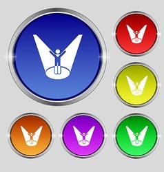 Spotlight icon sign Round symbol on bright vector
