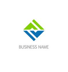square shape geometry business logo vector image