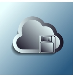 steel 3d clouds Storage vector image vector image