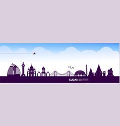 sudan travel destination vector image