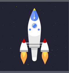 technology ship rocket startup innovation vector image