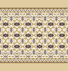Tribal seamless pattern geometric design vector