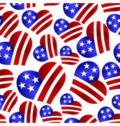 Usa colors hearth shape celebration seamless vector