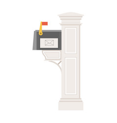 Vintage private post box or mailbox icon vector