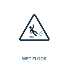Wet floor icon monochrome style design from vector