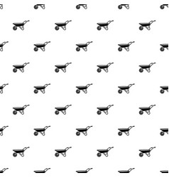 Wheelbarrow pattern seamless vector