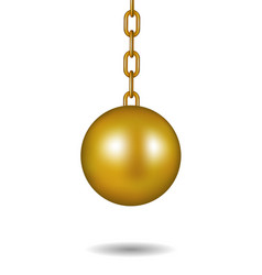 Wrecking ball in gold design vector