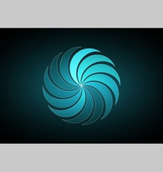 Abstract blue backgound vector image vector image