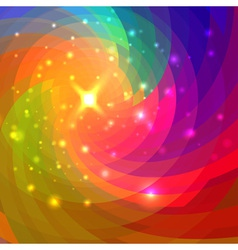 Abstract circular colorful background for your des vector image vector image