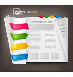 business website design vector image vector image