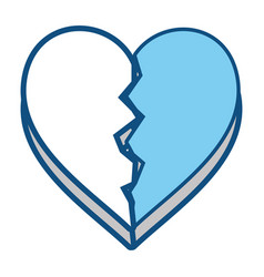heart broken symbol vector image