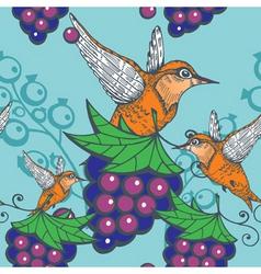 humming bird pattern vector image vector image