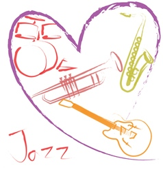 Jazz music lover vector image