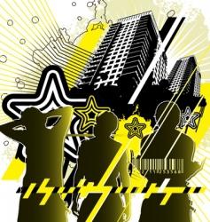 urban design yellow black vector image vector image