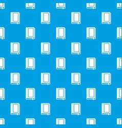 Book pattern seamless blue vector