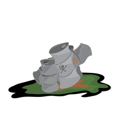 dump polluting the environment vector image
