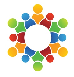 Family circle vector image