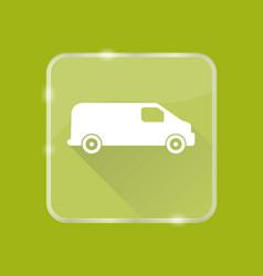 Flat style minivan car silhouette icon vector