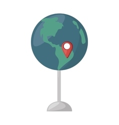 globe map location continent vector image vector image