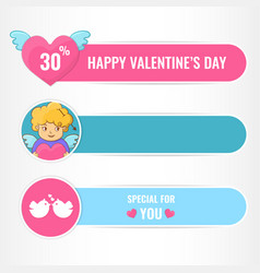 happy valentines day banners vector image vector image