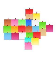 Papet notes shaped as arrow vector image vector image
