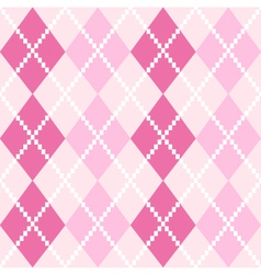 Pink seamless Argyle Pattern for Valentines day vector image vector image